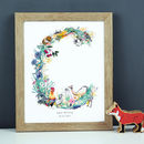 Personalised A To I Pastel Wildlife Letter Print