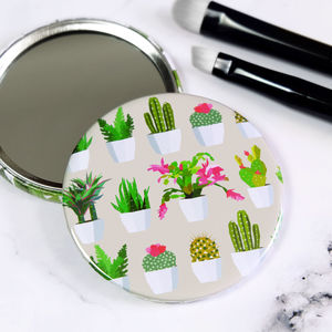 Cactus Pocket Compact Mirror - compact mirrors
