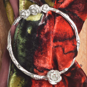Rose Pewter Scarf Ring Scarf Holder - whats new