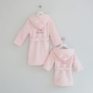 Personalised Little And Big Sister Set - bathtime
