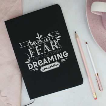 'Dreaming' Motivational Soft Feel Notebook