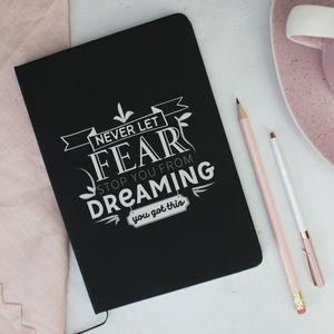 'Dreaming' Motivational Soft Feel Notebook - view all new