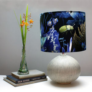 Dark Botanical Leaves Lampshade