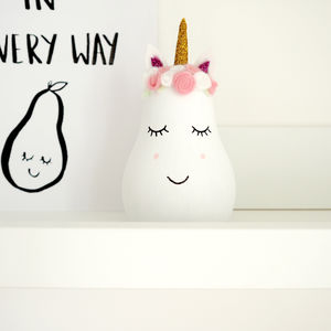 Unicorn Wooden Pear - decorative accessories