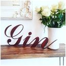 Rusted Metal Gin Word Sign