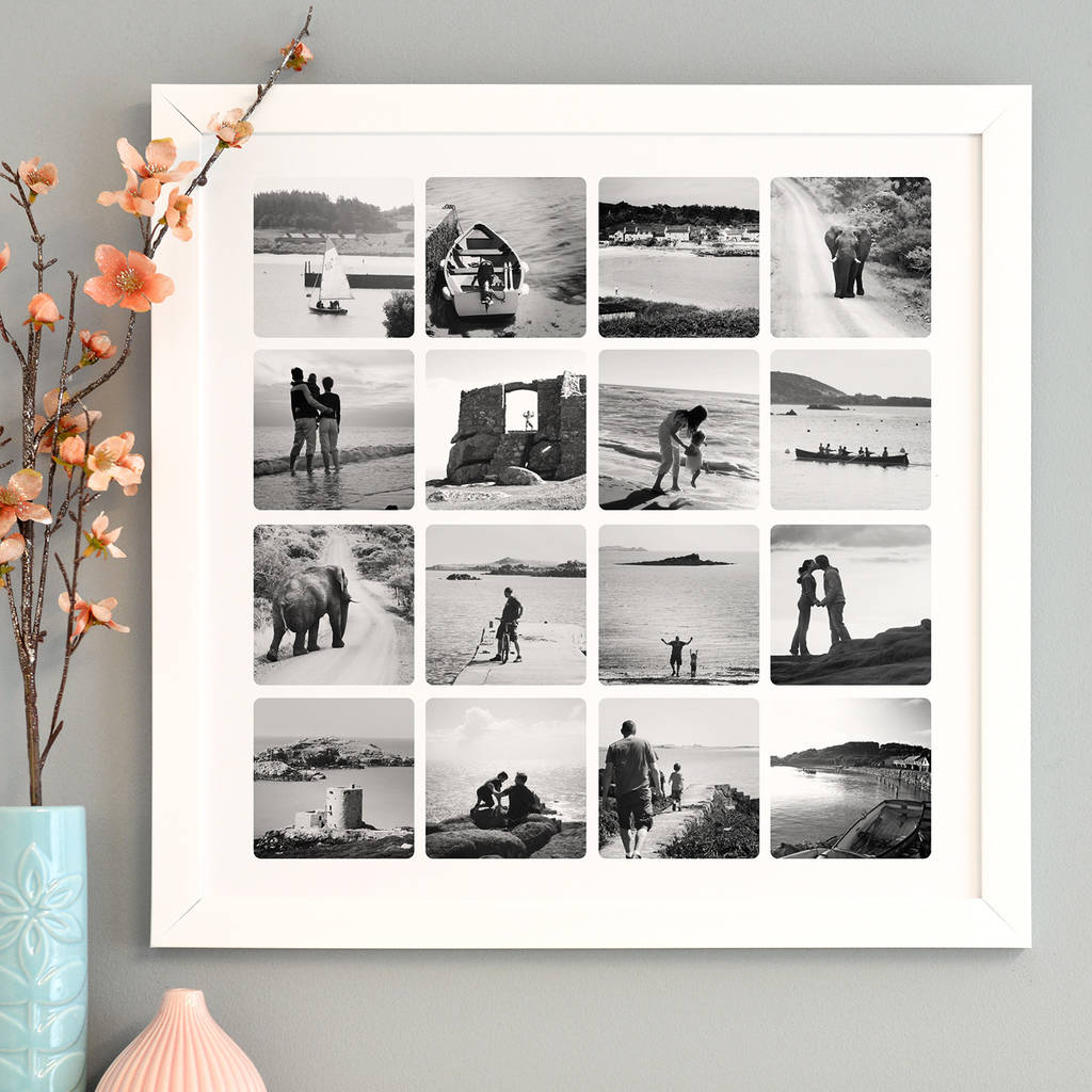 White Framed Print Black Photo