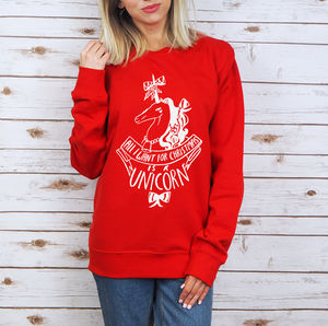 'All I Want Is A Unicorn' Christmas Sweatshirt - unicorns