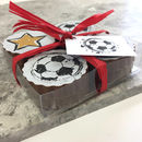 Gift Box Of Football Chocolates For Sports Lovers