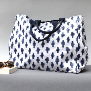 Navy Cross Weekender Bag - new in fashion