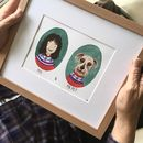 Me And My Pet Portrait, Unframed