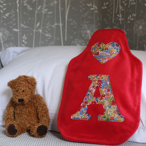 Liberty Initial Hot Water Bottle Cover