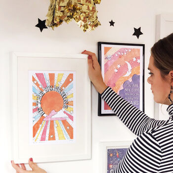 'Be The Sunshine' Illustrated Print