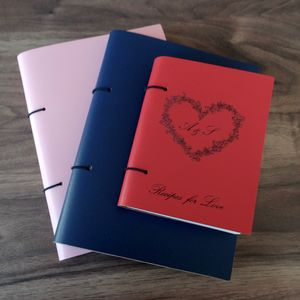 'Recipes for Love' Personalised Leather Recipe Book