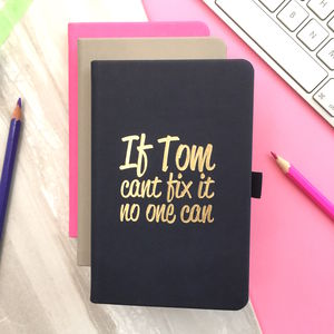 Personalised 'Fix It' Notebook - notebooks & journals