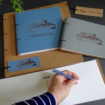 Personalised Leather Fishing Book