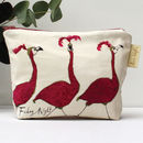 'Friday Night' Flamingo Make Up Bag