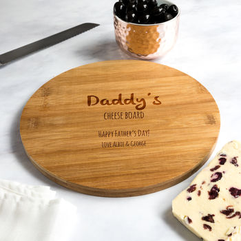 Personalised Happy Father's Day Cheese Board