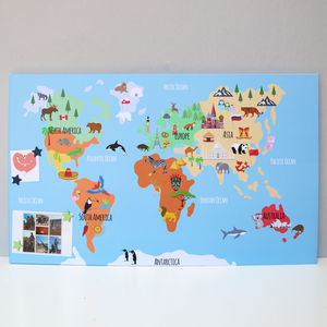 Illustrated Map Magnetic Noticeboard