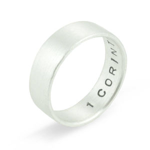 Personalised Men's Wedding Ring
