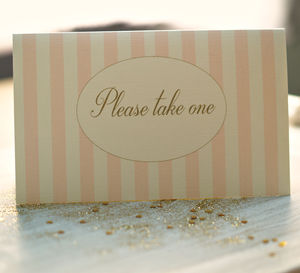 'Please Take One' Table Sign - table decorations