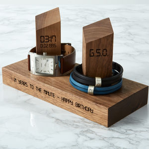 Personalised Watch And Bracelet Stand - gifts for him sale