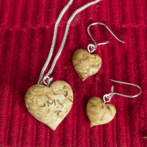 Personalised Wood And Silver Jewellery