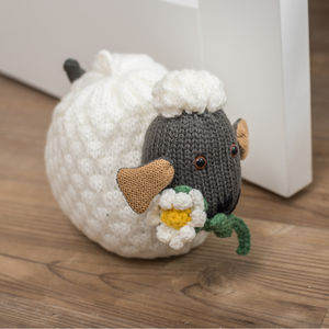 Wooly Sheep Doorstop - baby's room