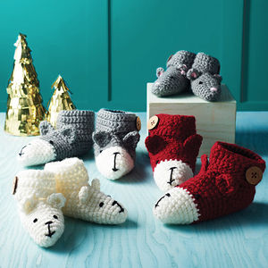 Animal Character Booties - christmas clothing & accessories