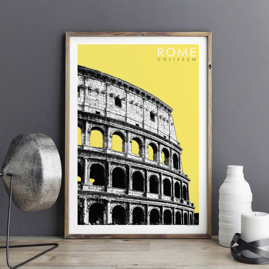 rome travel print the coliseum by bronagh kennedy - art prints ...