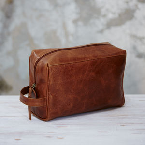 Handmade Leather Wash Bag