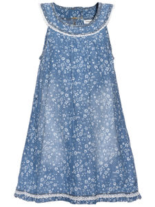 Abava Floral Printed Denim Dress