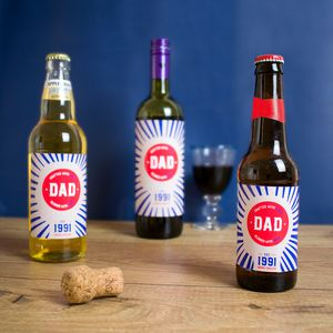 Personalised Father's Day Bottle Label For Dad
