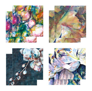 Eight Fine Art Watercolour Gift Cards Pack A - birthday cards