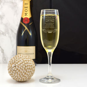 Personalised Champagne Flute Maid Of Honour