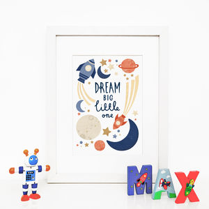 Personalised 'Dream Big' Typography Giclée Print