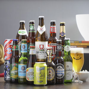14 Award Winning World Lagers And Tasting Glass Gift - gifts for him