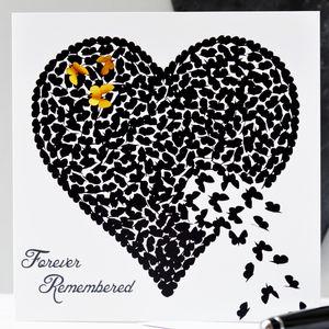 Forever Remembered Butterfly Card/ Memorial - shop by category