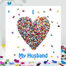 Husband Birthday Card, Butterfly Husband Love Card