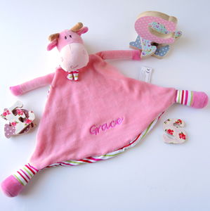 Personalised Pink Cubbie Giraffe Soother - blankets & throws