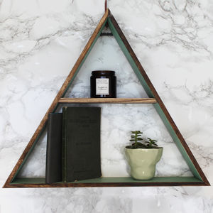 Wooden Triangle Shelf - furniture