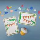 Crocodile Party Invitation And Thank You Notecards
