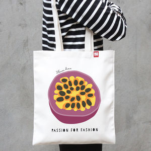 Personalised 'Passion For' Tote Bag