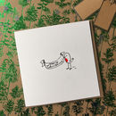 Pack Of Eight Illustrated Robin Christmas Cards