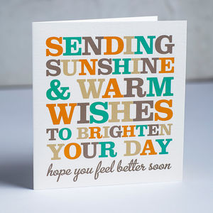 Wise Words Get Well Soon Card