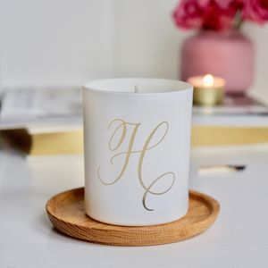 Calligraphy Initial Scented Candle