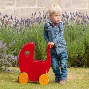 Wooden Toy Pram - toys & games