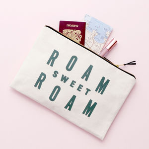 'Roam Sweet Roam' Extra Large Travel Pouch - clutch bags