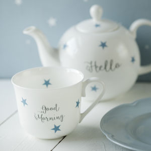 Personalised Stars Bone China Breakfast Set - kitchen
