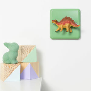 Pastel Green Stegosaurus Dinosaur Nursery Dimmer Switch - children's lights & night lights