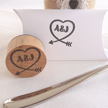 Personalised Heart Monogram Couple Stamp